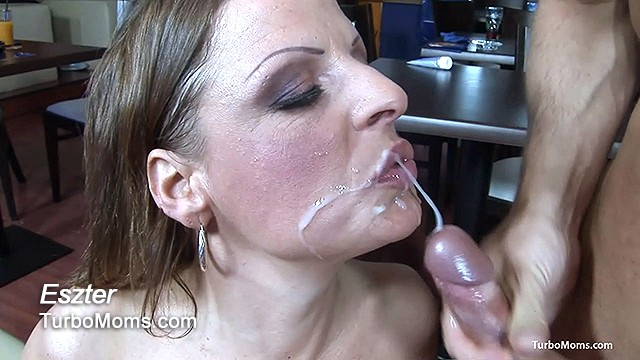 Hungarian milf facialized after hard sex