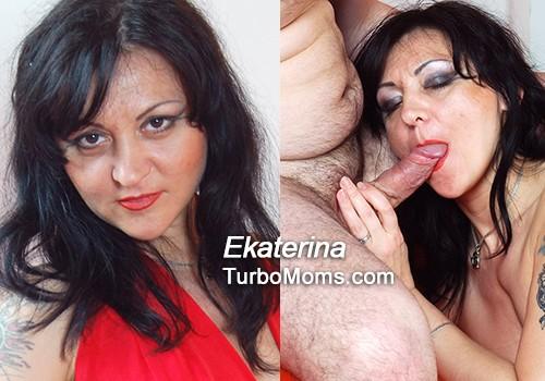 Russian Milf Ekaterina fucking young dick in sex video